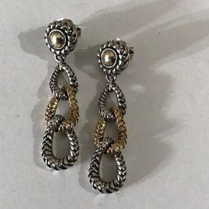 Equestrian Triple Drop Earrings